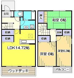 [テラスハウス] 東京都小平市上水南町2丁目 の賃貸【/】の間取り
