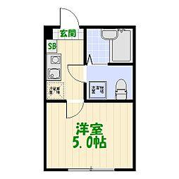 東京都葛飾区東金町2丁目の賃貸アパートの間取り