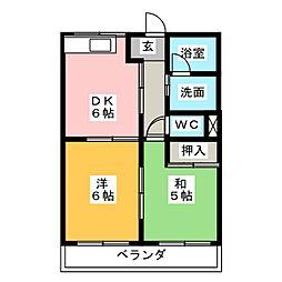 アメニティハイム21[2階]の間取り