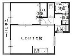 ミスターK北武庫之荘[302号室]の間取り