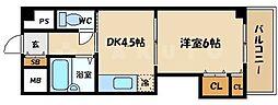 ローズコーポ京橋[6階]の間取り