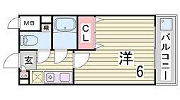ヒルハイム神戸[6階]の間取り
