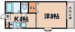 広島県広島市東区温品6丁目の賃貸アパートの間取り