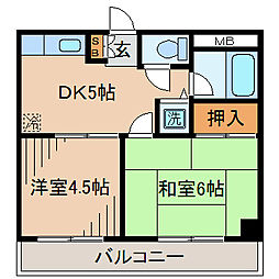 マンション衣笠[2階]の間取り