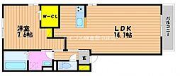 (仮)D−room白石西新町B棟[2階]の間取り