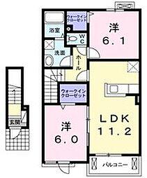 ピフレ[2階]の間取り