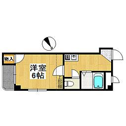 大阪府堺市堺区栄橋町1丁の賃貸マンションの間取り
