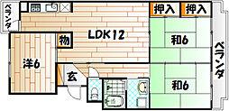 プレジデントタカヤ3[1階]の間取り