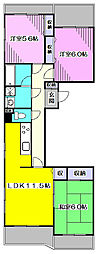 ガーデンフレアA[1階]の間取り