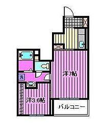 埼玉県さいたま市浦和区大東1丁目の賃貸アパートの間取り