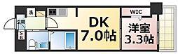 JPレジデンス大阪城東4 7階1DKの間取り