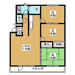 センチュリー八甲田[2階]の間取り