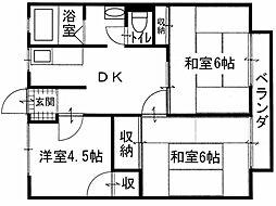 鹿隈リゾートタウン6[2階]の間取り