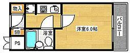 大阪府茨木市水尾2丁目の賃貸マンションの間取り
