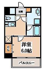 大阪府大阪市生野区巽北3丁目の賃貸マンションの間取り