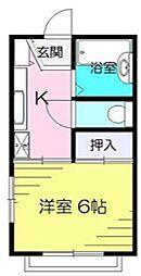 東京都町田市金井7丁目の賃貸アパートの間取り