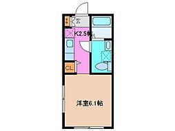 三重県津市城山3の賃貸アパートの間取り