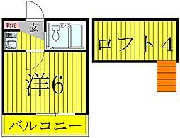 柏レジデンシャル第7[2階]の間取り