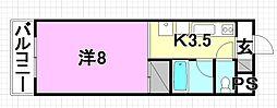 フォースタクマ[203 号室号室]の間取り