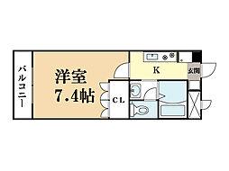 フロント木津[4階]の間取り