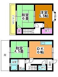 [テラスハウス] 埼玉県坂戸市泉町3丁目 の賃貸【/】の間取り