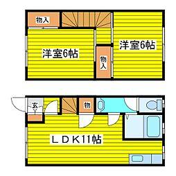 [タウンハウス] 北海道札幌市東区北三十二条東13丁目 の賃貸【/】の間取り