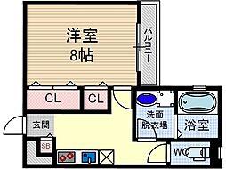 KTIレジデンス茨木[3階]の間取り