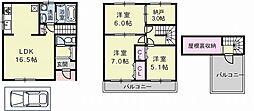 [一戸建] 大阪府藤井寺市小山8丁目 の賃貸【/】の間取り
