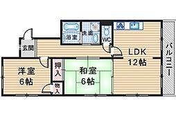パルフェ上野西[1階]の間取り