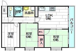 ガーデンハウス千里丘[3階]の間取り