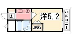 プレアール姫路龍野町[106号室]の間取り