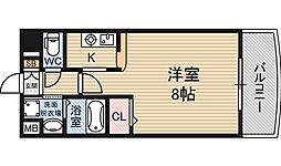 ノルデンハイム新大阪2[5階]の間取り