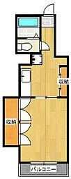 横浜住宅[16号室]の間取り