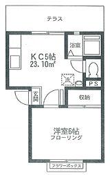 東京都豊島区千川2丁目の賃貸アパートの間取り