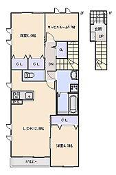 Maison en bois (メゾン オン ボワ)[204号室]の間取り