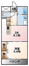 クラルテ甲子園[1階]の間取り