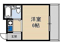 ハイツ茨木[3階]の間取り