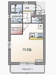 クレールコート堂庭[2階]の間取り