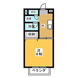 S.R TAKA TAKA[2階]の間取り