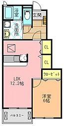 サンリットヴィラB[1階]の間取り