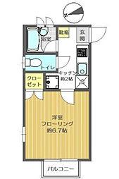 東京都江戸川区北葛西4丁目の賃貸アパートの間取り