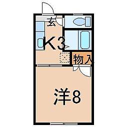 2286ラ・ポーム・ド・マンション[1階]の間取り