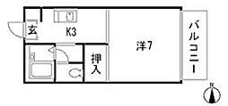 セフィラSSK B棟[2階]の間取り