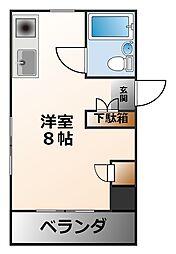 リッチライフ甲子園I[3階]の間取り