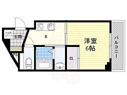 JR東海道・山陽本線 吹田駅 徒歩5分の賃貸マンション 6階1Kの間取り