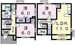 ニュ−プリムロ−ズ C[0104号室]の間取り
