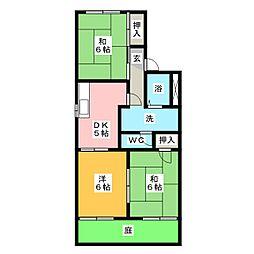イーストフレア[1階]の間取り