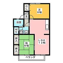 セジュール諏訪  A棟[2階]の間取り