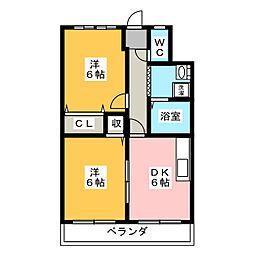 啓周ビル[4階]の間取り