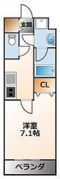 ランドアート甲子園[7階]の間取り